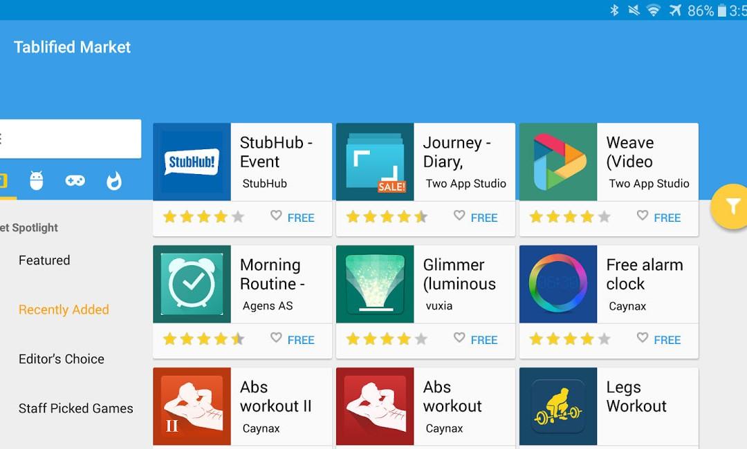 Tablified es la tienda que solo tiene aplicaciones perfectamente optimizadas para tablets