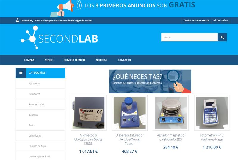 Nueva tienda Online de Material de Segunda Mano